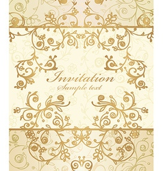frame and ornate pattern vector image