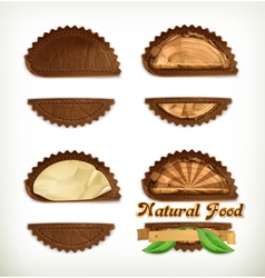 Leather stickers set design elements vector image
