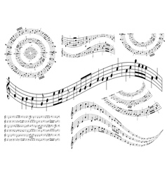 Musical abstract design elements - set vector