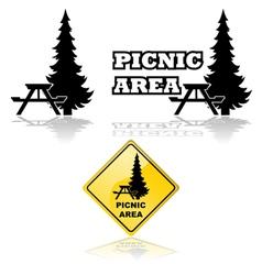 Picnic area vector