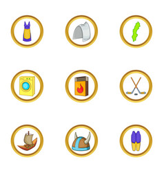 stockholm icons set cartoon style vector image