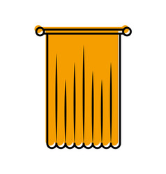 window curtain isolated icon vector image vector image