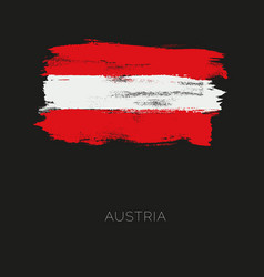 austria colorful brush strokes painted national vector image vector image