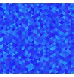 Bright blue triangles seamless pattern vector image vector image