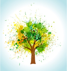 Color paint splashes eco background vector image vector image