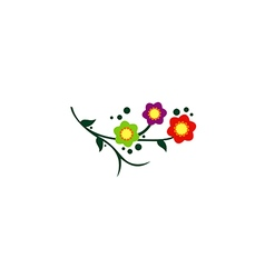 flower colorful abstract decorative logo vector image vector image