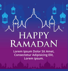 happy ramadan vector image