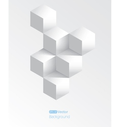 Realistic white geometrical background with vector image vector image