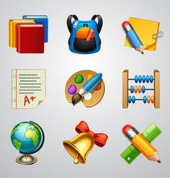 School icons-set 4 vector image vector image