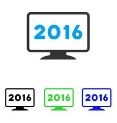 2016 display flat icon vector image