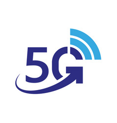 5g icon 5th generation wireless internet vector image
