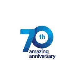 70 years amazing anniversary celebration template vector