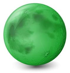 A green planet vector