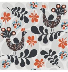 Abstract peacocks design vector