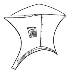 Ancient greek soldiers vintage engraving vector