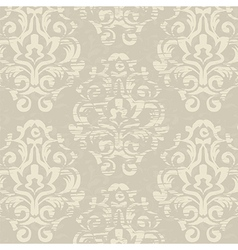 Antique vintage floral seamless pattern vector image