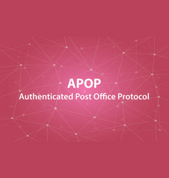 apop authenticated post office protocol text vector image