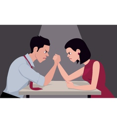 armwrestling vector image