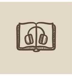 Audiobook sketch icon vector