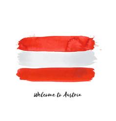 Austria watercolor national country flag icon vector
