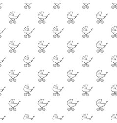 baby carriage pattern seamless vector image