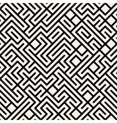 Black and white maze geometric seamless vector