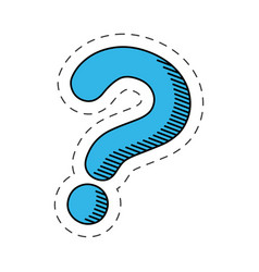 Blue question mark image vector