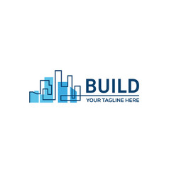 building constructionreal estate business sign vector image