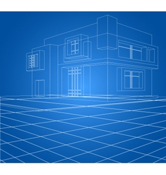 Built scene wireframe vector