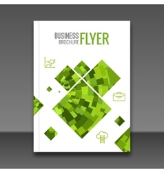 Business report design flyer template background vector image