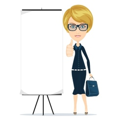 Business woman showing thumbs up vector image vector image