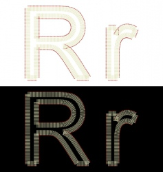 By font from matches vector
