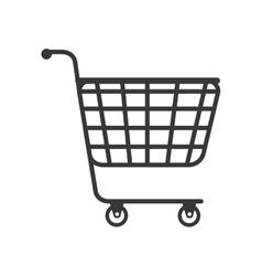 Cart supermarket shopping vector