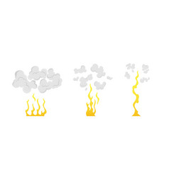 Cartoon explosion animation frames for game boom vector
