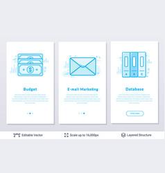 cash money folders and message symbols vector image