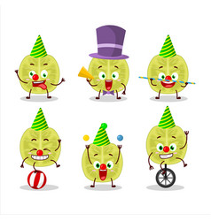 Character slice amla with various circus shows vector