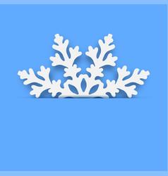 christmas card - winter snowflake vector image