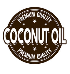 coconut oil sign or stamp vector image
