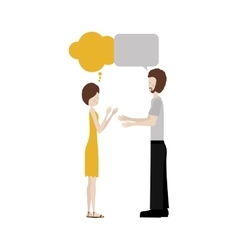 conversation between man and woman icon image vector image