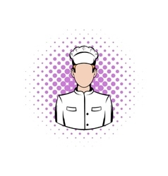 Cook comics icon vector image