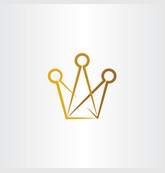 Crown logo symbol element icon vector