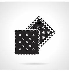 Crunchy crackers black icon vector
