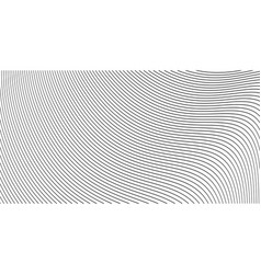 curve wavy lines background or stripes grayscale vector image