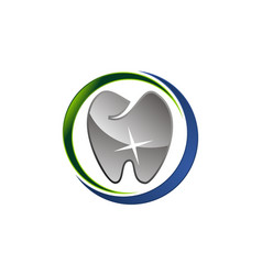 dental care logo design template vector image