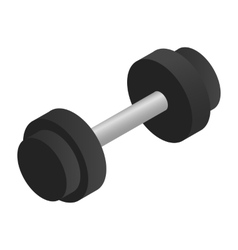 Dumbbell isometric 3d icon vector image