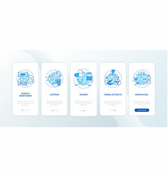 Energetics components onboarding mobile app page vector