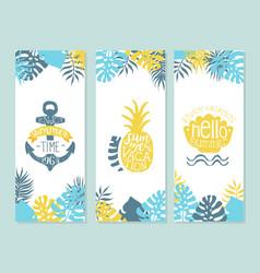 enjoy summer time enjoy vacation vintage vector image
