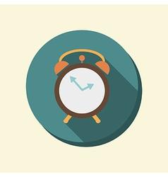 flat circle web icon alarm clock vector image
