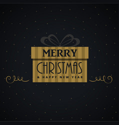 gift box for christmas festival design vector image