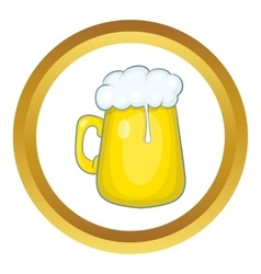 Glass mug of beer icon vector